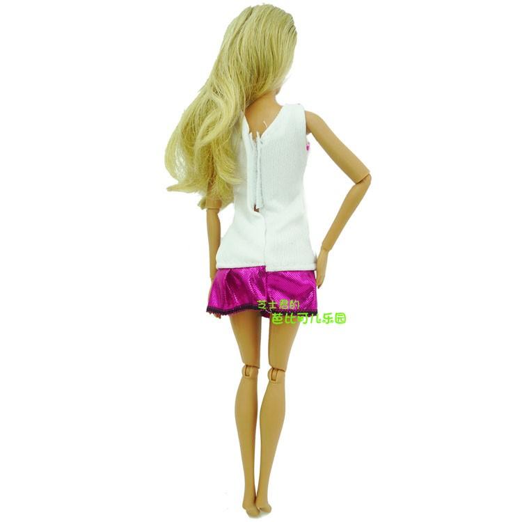 2016 Latest Vogue Doll Costume Lovely Handmade Social gathering Garments DIY Bow-Knot Costume For Barbie Doll Finest Baby Reward Women'Reward