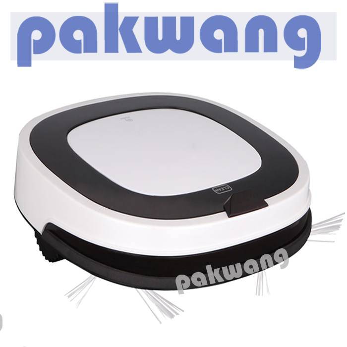Pakwang D5501 Robot Vacuum Cleaner 5 cleaning modes Multifuctional White Vacuum Cleaner Small Noise Smart Dry and Wet Mop 2017(China (Mainland))