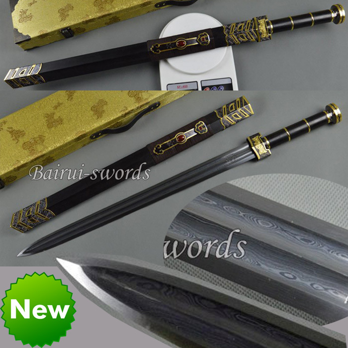 HIGH QUALITY HAND MADE CHINESE SWORD RU YI HAN JIAN FOLDED ...