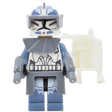 Wholesale Star Wars 7 Minifigures Wolfpack Clone Trooper Single Sale Building Blocks 20pcs/lot Starwars Set Model Figures Toys