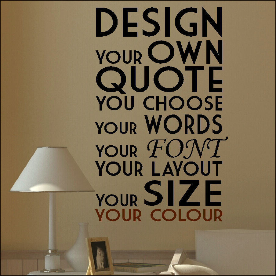 Wall Stencils Design Your Own : Extra large create your own custom wall quote design
