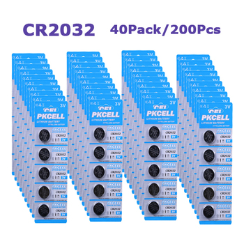 200Pcs/40Pack 3V CR2032 DL2032 CR DL 2032 BR2032 Button Cell Battery For Watches,clocks,hearing aids,calculators,electronics