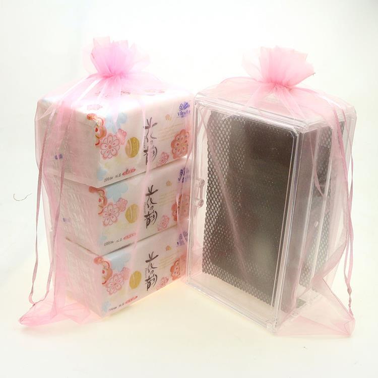 Здесь можно купить  Wholesale 100pcs/lot 30x40cm Pink Wedding Drawable Organza Voile Gift Packaging Bags&Pouches Can Customized Logo Printing  Ювелирные изделия и часы