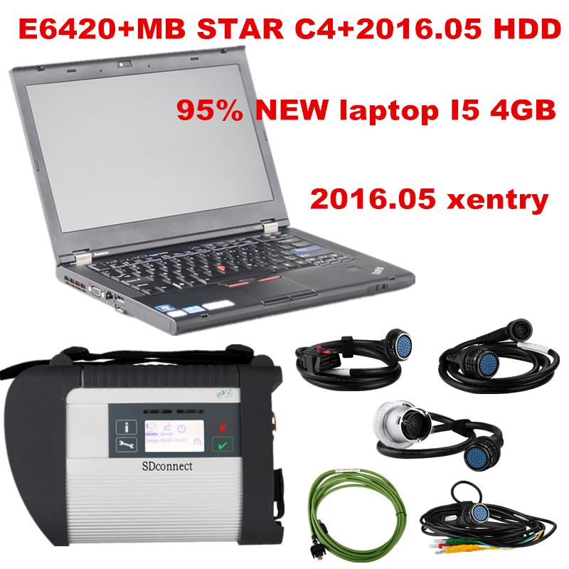 MB Star C4 SD Connect + E6420 + HDD + Case Mercedes Diagnosis Xentry Diagnostics Compact 4 Multiplexer For Benz Diagnose Win 7(China (Mainland))