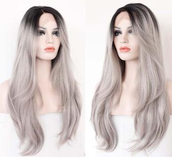 Dark Grey Lace Wig