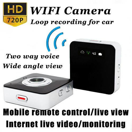 Гаджет  Mini Portable E9000 HD 720P Multi-function Smallest WiFi Camera Car DVR Internet Live Video Monitor Track For Phone PC ZAQ09 None Безопасность и защита