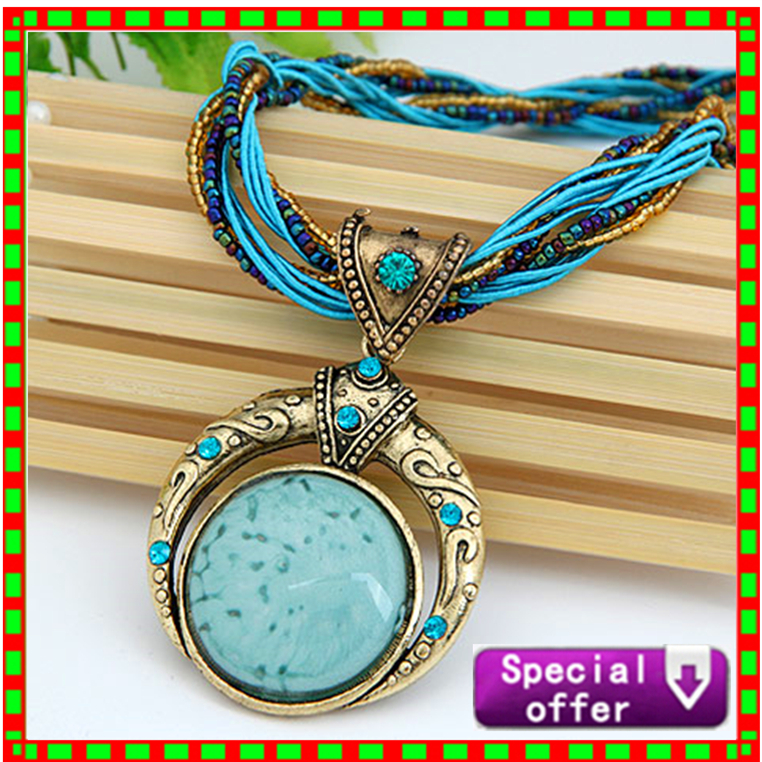 Statement Necklace & Pendant Collier Femme Collar Mujer 2015 Boho Bohemian Colar Vintage Necklace Women Accessories Jewelry(China (Mainland))