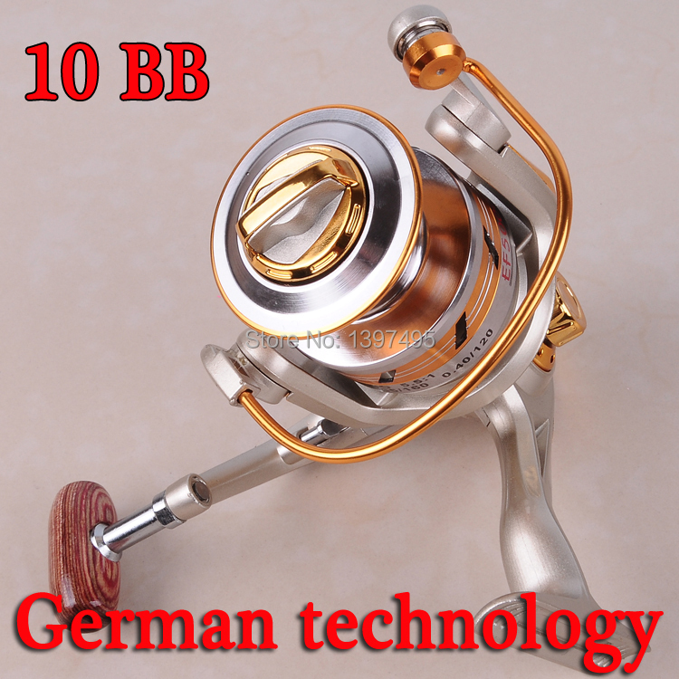 90%OFF Metal Fishing Reels 10BB Ball Bearings Left Right Hand Interchangeable Spinning Reel 5.5:1 Fishing tackle Free Shipping(China (Mainland))