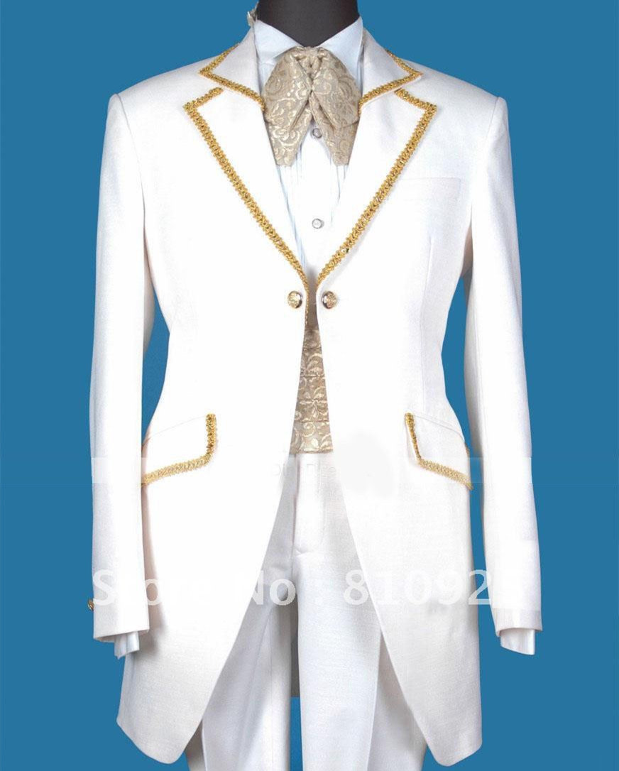 100 guarentee custom made men suit for wedding groom wear white slim fit