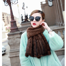 2016 hair mink knitted fur scarf autumn and winter male women's general luxury thickening fish tail(China (Mainland))