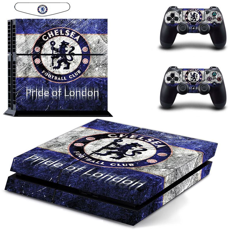 England Blue Football Club Team Vinyl Cover Decal Skin Sticker For Sony PlayStation 4 PS4 Console & 2 Controller Skins The Blues(China (Mainland))