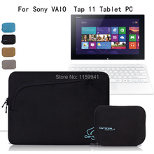 For Sony 11.6-inch Laptop VAIO Tap 11 Tablet PC Neoprene Protective Carry Sleeve Case Computer Storage Bag Cover(China (Mainland))