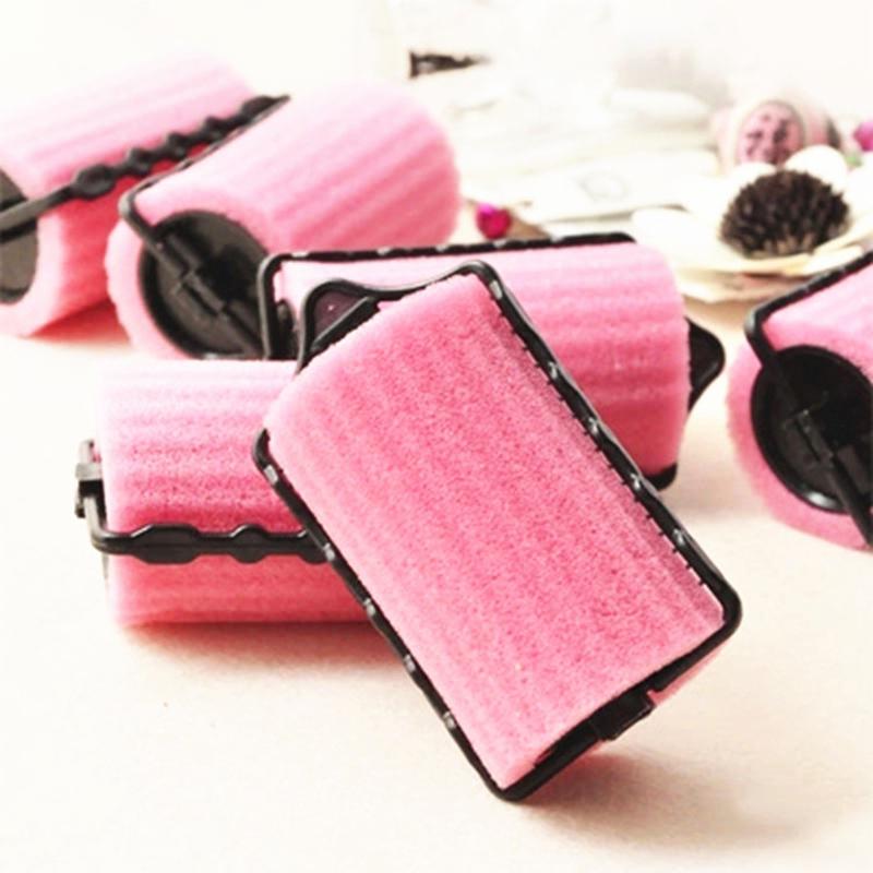 8Pcs Sponge Hair Roller Bang Curls Artifact Double Layer Self-adhesive DIY Hair Soft Foam Curlers Tube Curling Hair Foam Rollers(China (Mainland))