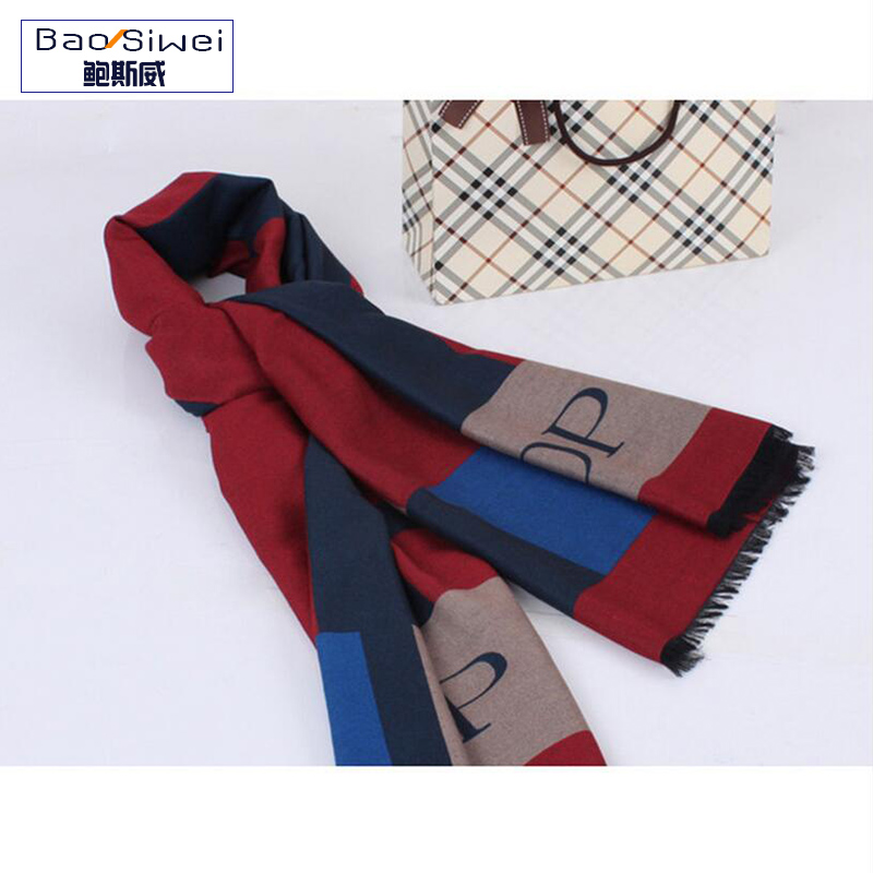 Winter Brand Plaid Cashmere Scarf Women Oversized Double Knit Wool Warm Pashmina Shawls Check Blanket Ponchos and Capes W3110(China (Mainland))