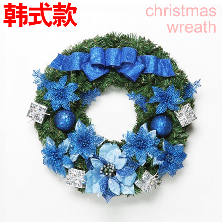 Online buy wholesale blue christmas wreath from china