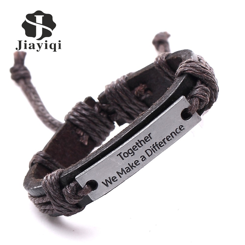 New Hot Vintage Bracelets Bangles Charm Genuine Leather Bracelets for Women Men Friendship Bracelets Fine Jewelry
