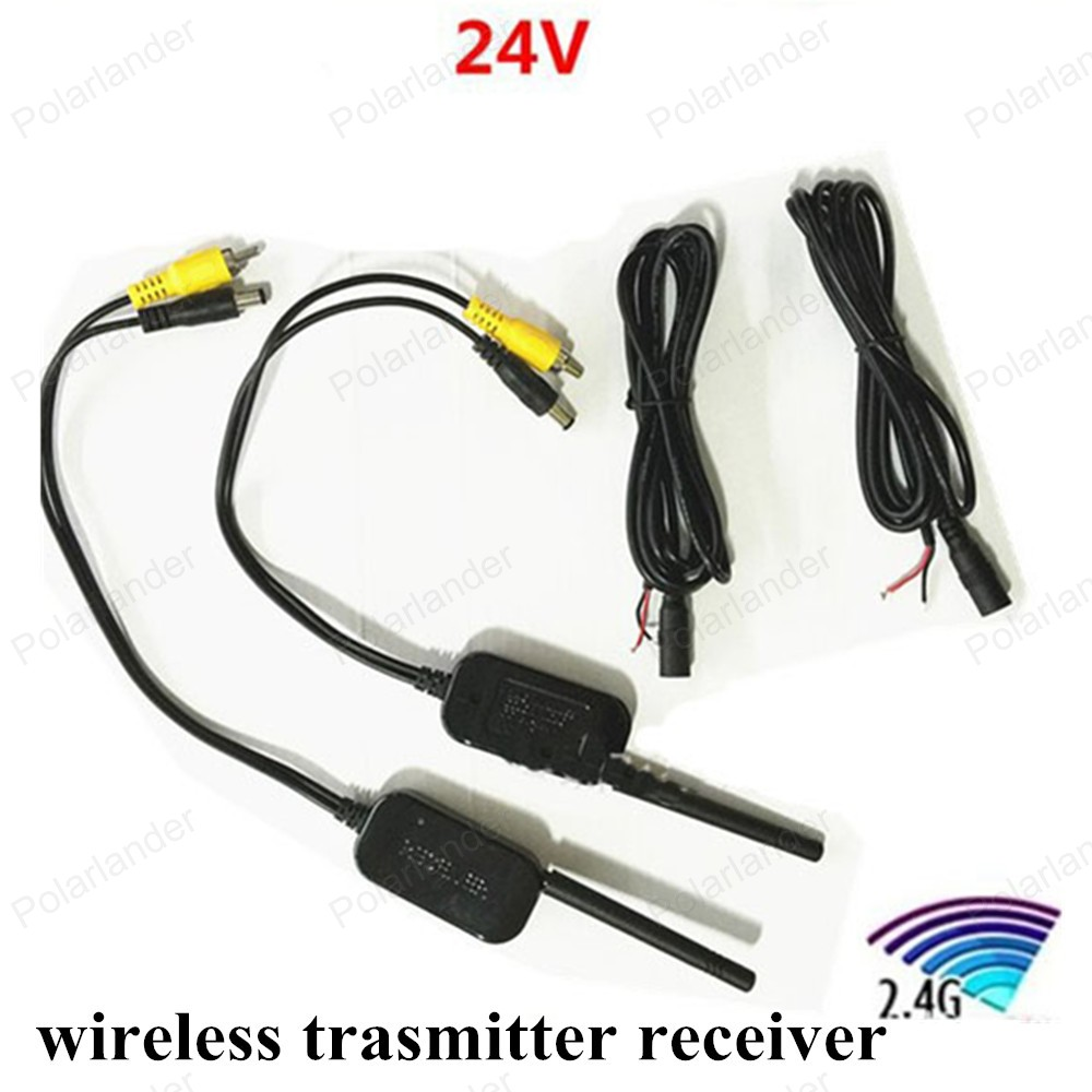 Best Quality Parking Car Video transmitter Receiver kit 2.4G Wireless Cam Transmitter Receiver for Vehicle Backup Front Camera(China (Mainland))
