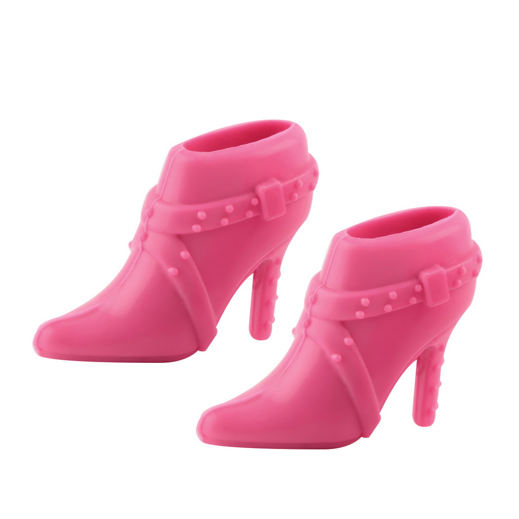 3 Pairs Trendy Hard Plastic Boots Shoes Heels For Barbie Doll Party Accessories Multiple Styles Heels Hot Selling