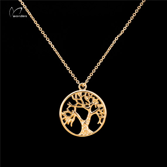 10pcs/lot 2016 Luck Jewelry Gold/Silver/Rose Gold Luck Pendant Tree of Life Chain Necklace for Women and Men N121(China (Mainland))