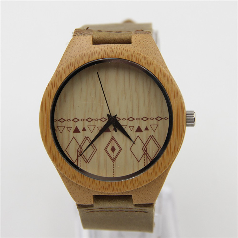 Hot Marketing 2015 Fashion Leather Bamboo Wooden Watches Sep2<br><br>Aliexpress