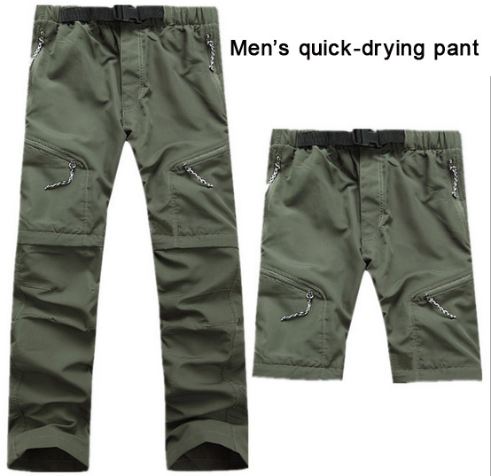 2014 Men quick-drying pant Waterproof breathable perspiration quick-drying UV trousers cycling outdoor Camping Hiking clothing<br><br>Aliexpress