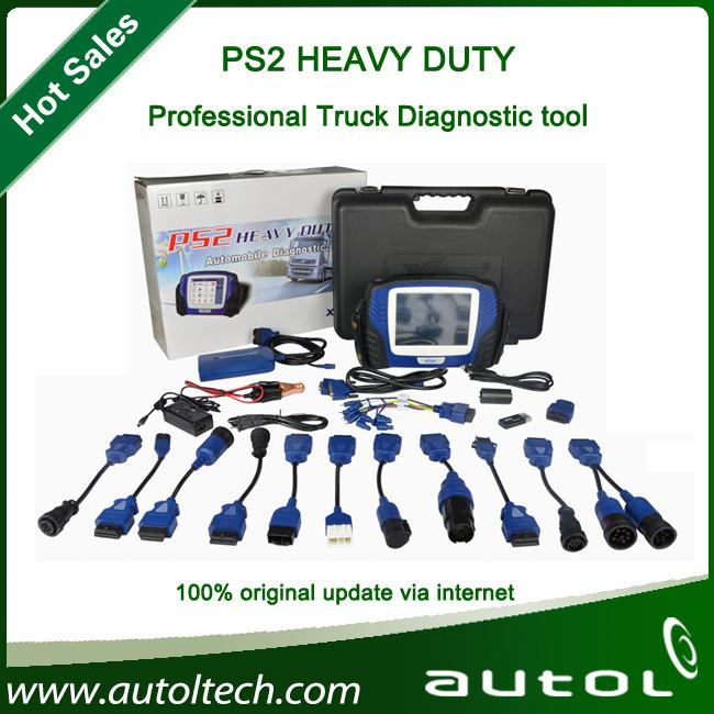 2015 Xtool ps2 truck & PS2 HEAVY DUTY universal truck diagnostic tool & Wireless bluetooth English&Spanish(China (Mainland))