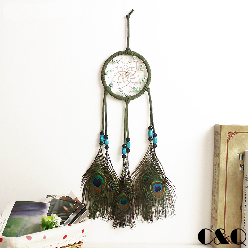 Buy Indian Dream Catcher Big Wind Chimes Campanula Peacock Feather Pendant