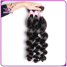 Promation!6A unprocessed indian virgin hair bundles loose wave 4pcs lot spiral curly wavy hair extensions black color perruque