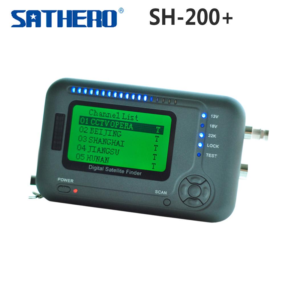 Original Sathero Digital Satellite Finder Meter SH-200+ DVB S/S2 CBS M ABS-S Signal Digital Sat Finder SH-200 free shipping post<br><br>Aliexpress