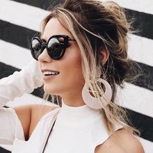 2016 New Fashion Trend Superstar Style Cateye Round Women Men Sunglasses Brand Designer Vintage Colorful Reflective Sunglasses