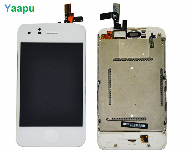 white 100% Guarantee New For iphone 3GS lcd Touch Screen Digitizer Assembly with frame home key(China (Mainland))