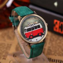 Fashion Children Fabric Watches Women Vintage Style Quartz Watch Cartoon Car Wristwatches Kids Relogio Clocks Wrist