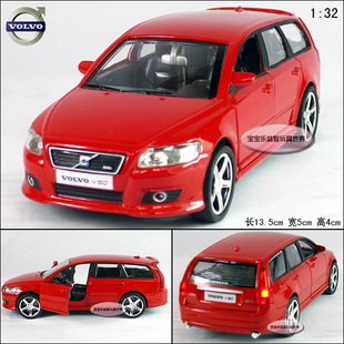 Free shipping 1:32 Volvo V50 2009 Alloy Diecast Car Model Vehicle Toys Gift Collection With Sound & Light Red B189d(China (Mainland))