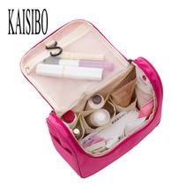 2016 Beautician Waterproof Cosmetic Bags Bath Wash Makeup Make Up Cosmetic Bag Korean Organizer Storage Travel Toiletry Bags(China (Mainland))