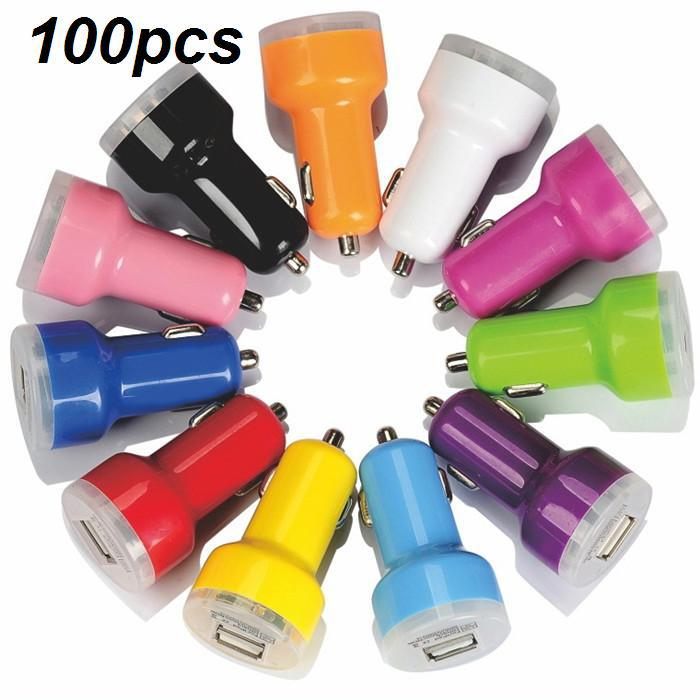 Universal 2.1A Dual USB Car Charger Adapter Charge Adapter for iPhone 5 5S 6 4 4S iPad 2 3 Samsung Galaxy S5 S4 S3 Note 2 3(China (Mainland))