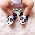 WOW New fashion panda fringe Genuine Leather Baby Moccasins soft animals Baby Shoes First Walker Chaussure