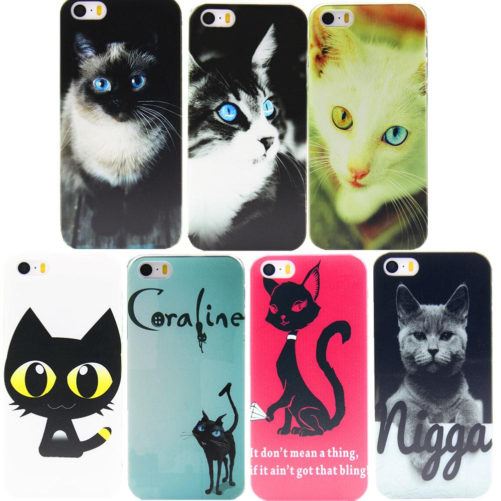 Car Covers Real 2015 Pc Phone Shell Latest Cartoon For Cat Transparent Case For Iphone 4 4s 5 5s 5c For Protection Cover Scratch(China (Mainland))