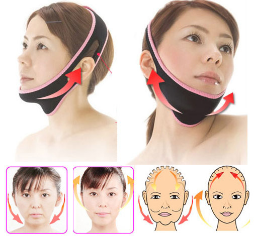 1 Pcs Face Lift Up Belt Sleeping Face-Lift Mask Massage Slimming Face Shaper Relaxation Facial Slimming Bandage(China (Mainland))