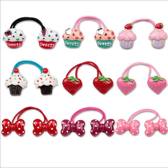 New Arrival styling tool cake bow Elastic Hair Bands accessories make you Beautiful used by women young girl and children(China (Mainland))
