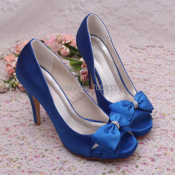 new arrival custom royal blue wedding shoes bridal