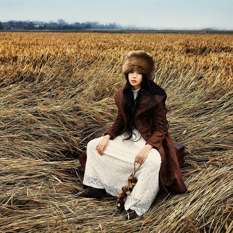 BOHOCHIC Women's Artistical Original Design Exquisite Vintage Berber Fleece Suede Fabric PU Warm Coat LS0023D Boho Chic