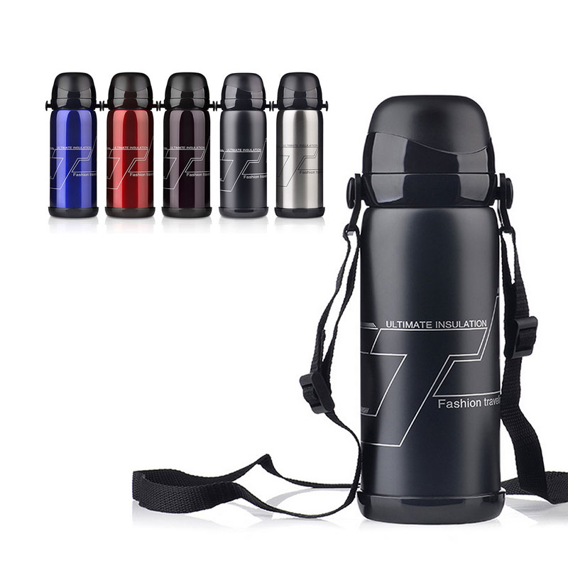Sport Drinking Water Bottle 800ml Large Capacity Stainless Steel Thermos Insulated Mug Travel Vacuum Flask Cute Coffee Cup(China (Mainland))