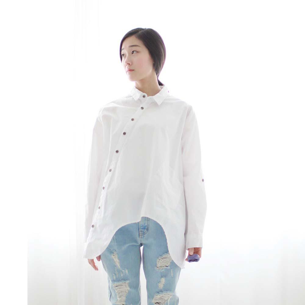 White Cotton Blouses Wholesale 24