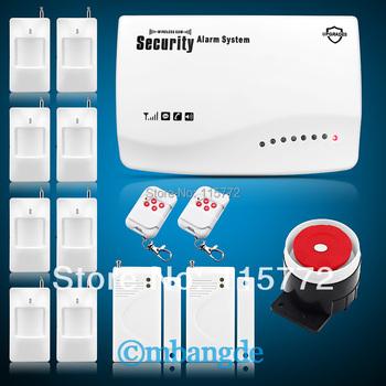 Free Shipping! New Arrival Wireless GSM Home Burglar Auto Dialer Pir Sensor Remote Alarm Security System