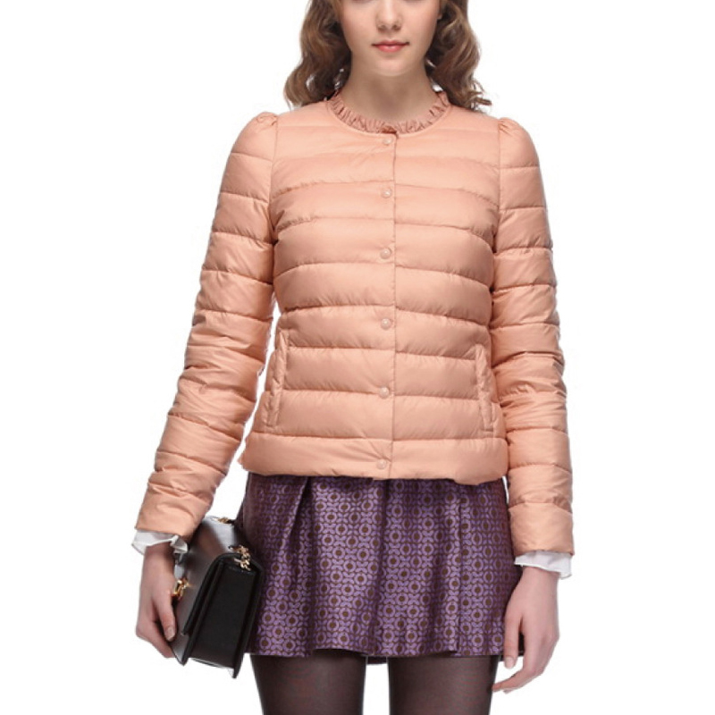 New Fashion Women Coat Winter Comfortable Down Parkas Coat Bubble Sleeve Single Breasted 3Colors White Duck Down Jacket Girl