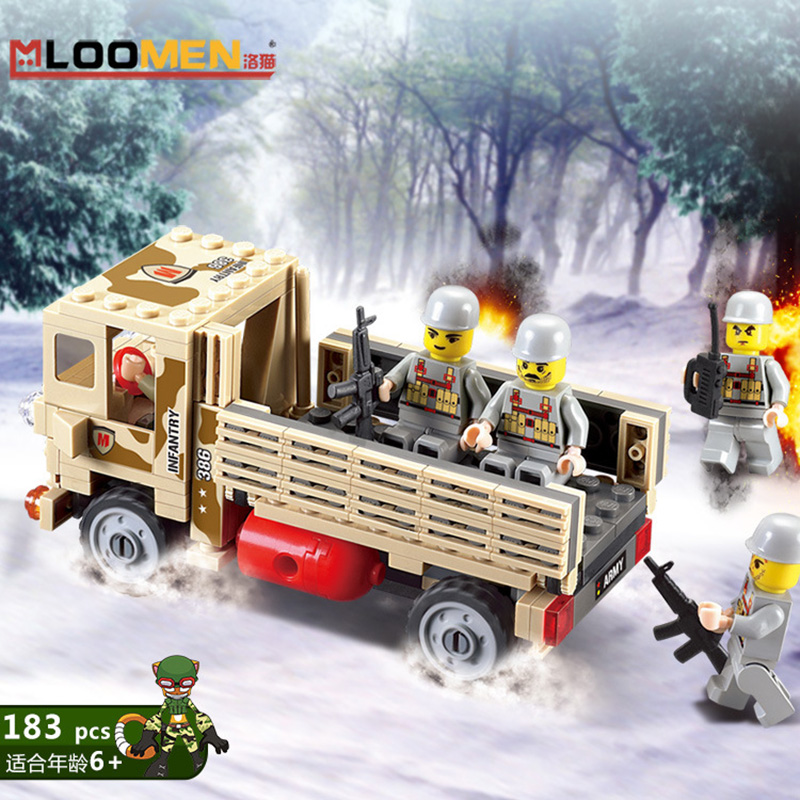 183 Pcs DIY Military War Vehicle Hummer H1 3D Field Forces Heavy Type Model Building Toys Minifigure Granule Assembled toys(China (Mainland))