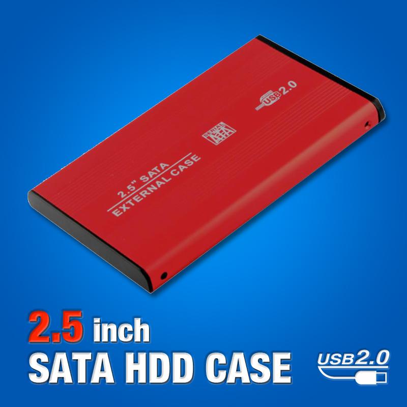 """Box Case 2.5"""" SATA USB 2.0 HD Externo Red HDD Hard Drive Disk Mobile External Enclosure EL5018(China (Mainland))"""
