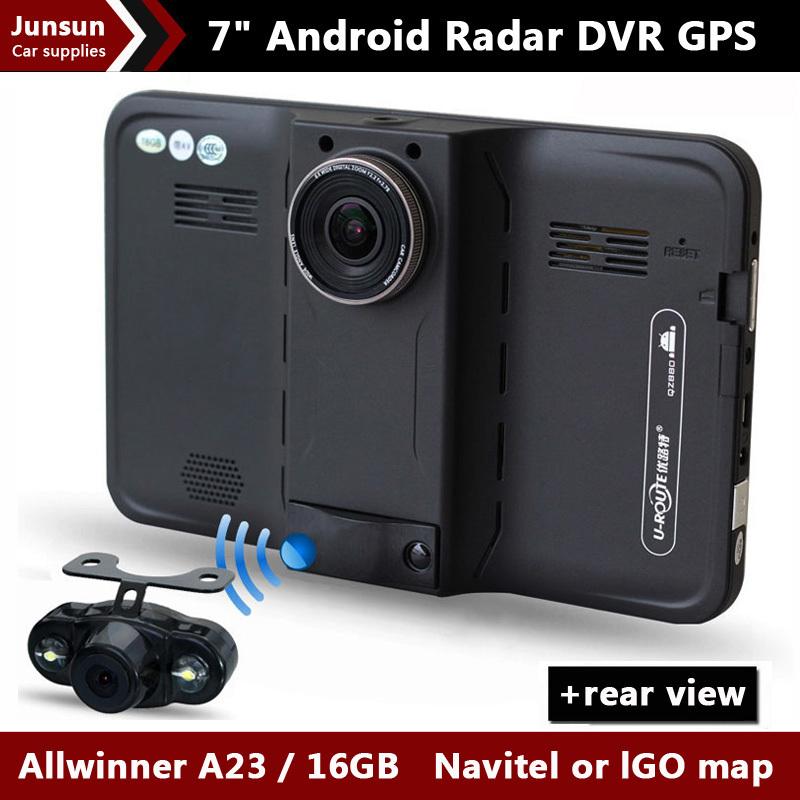 """7"""" HD 1080P Android Car DVR Recorder Camcorder rear view Radar Detector Car GPS Navigation vehicle gps Navigator AVIN sat nav(China (Mainland))"""