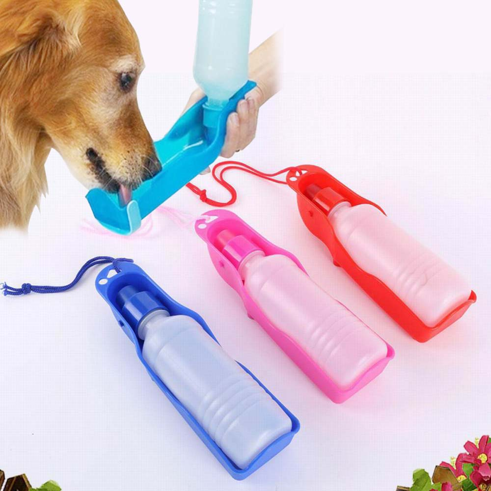 Portable Dog Cat Pet Feeding Bottle Bottle of Drinking Water Dogs Water Bottle Outdoor Travelling Bottle Water(China (Mainland))