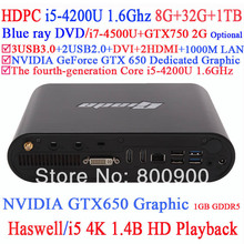 Giada D2308 Haswell Intel Core i5-4200U 4K HD playback Game Business computer graphic GTX650 1GB GDDR5 8G RAM 32G SSD 1TB HDD(China (Mainland))